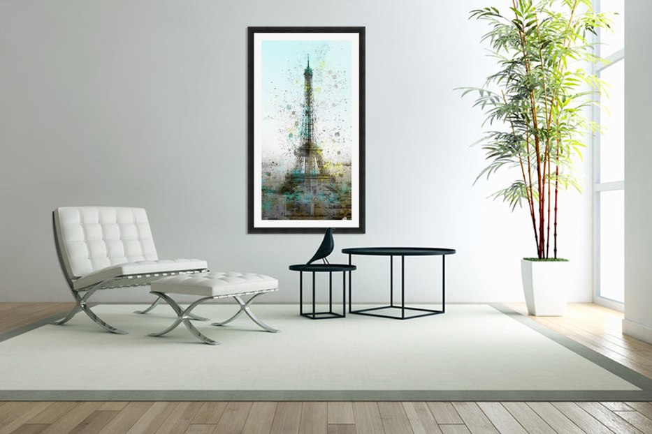 City-Art PARIS Eiffel Tower II in Custom Picture Frame