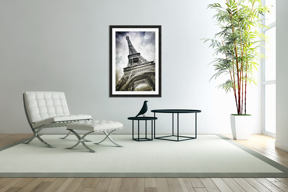 Modern-Art PARIS Eiffel Tower Splashes in Custom Picture Frame