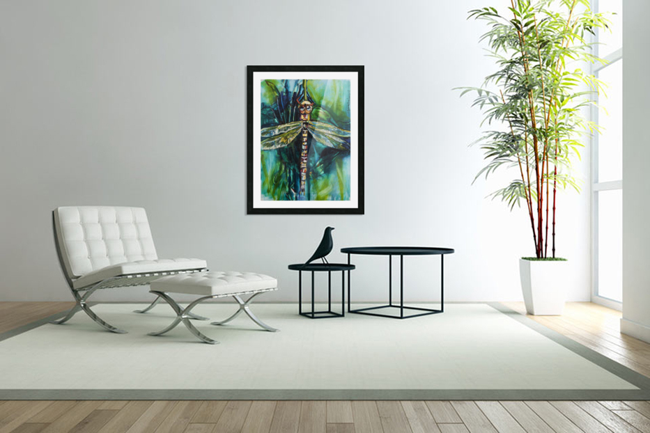 Louisiana Dragonfly in Custom Picture Frame