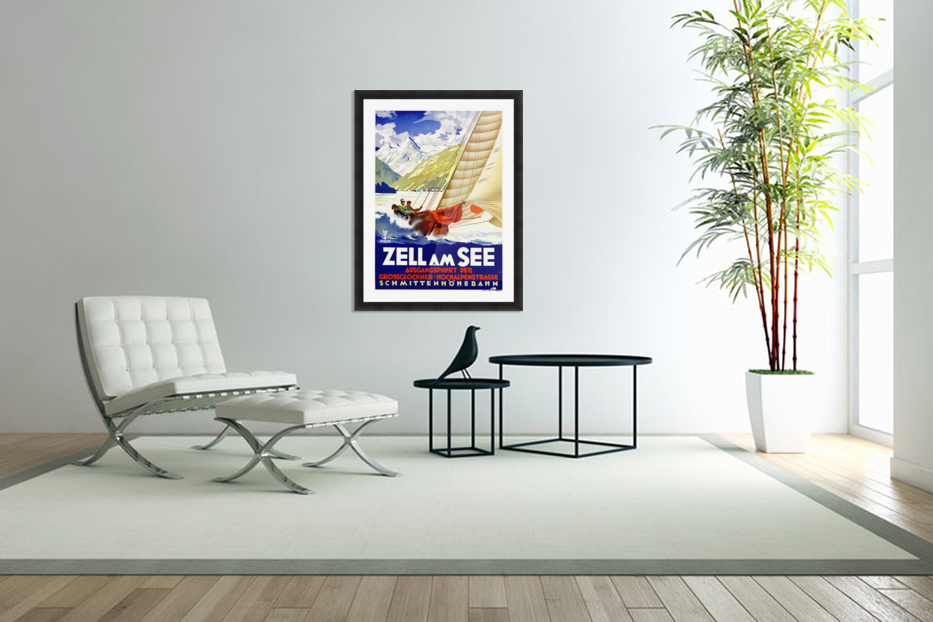 Sailing in Austria at Zell Am See - VINTAGE POSTER Canvas