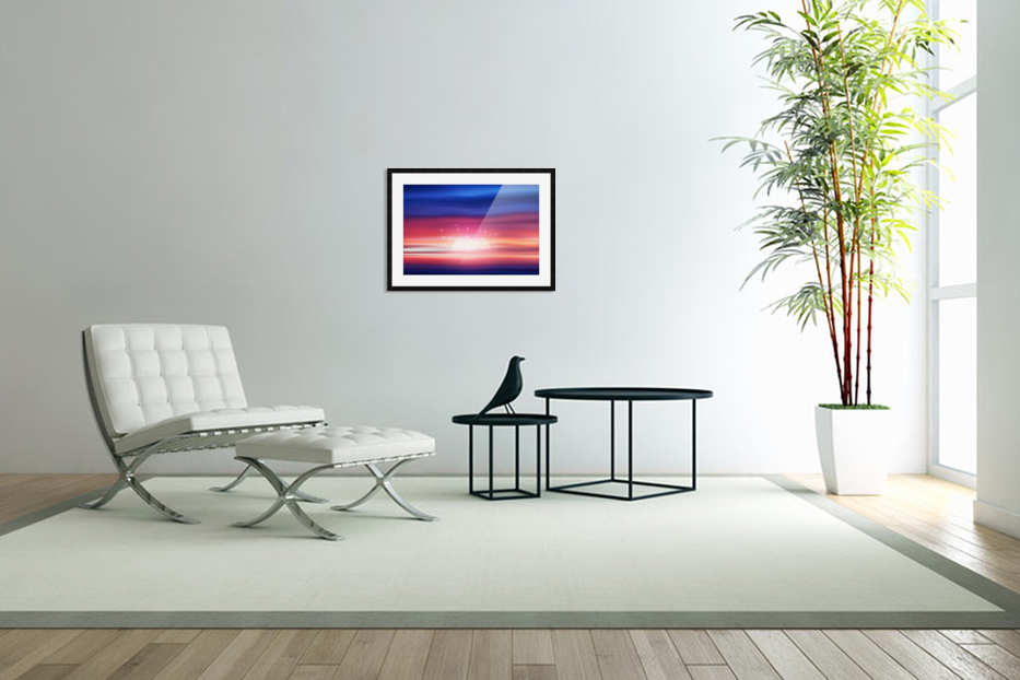 Abstract Movement XVII in Custom Picture Frame
