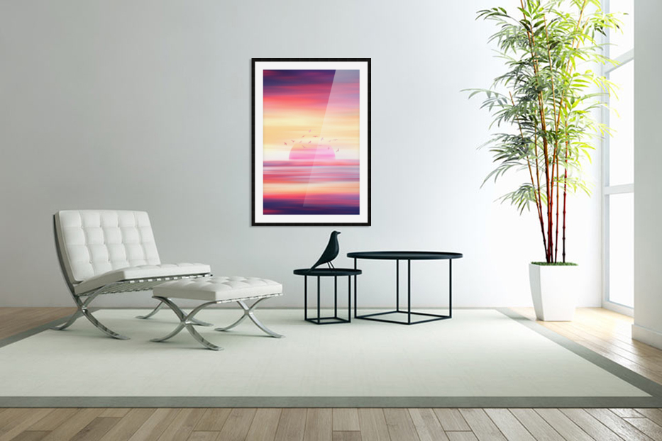 Abstract Movement XIX in Custom Picture Frame