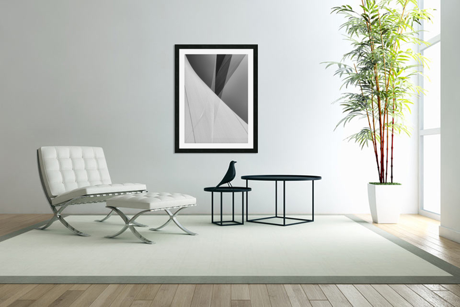Abstract Sailcloth 2 in Custom Picture Frame