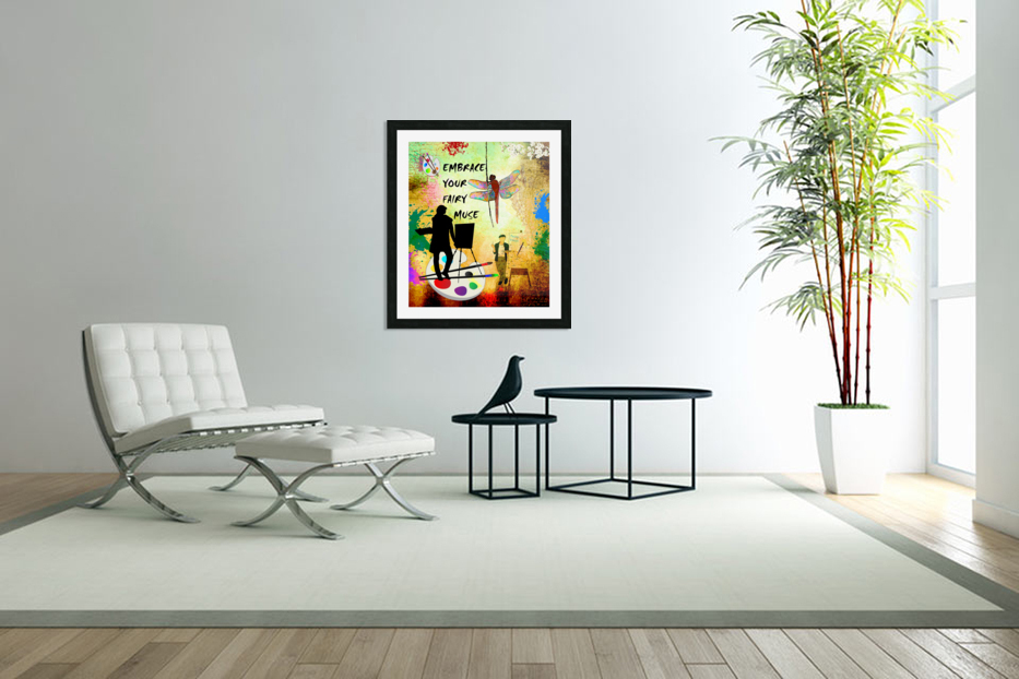 EMBRACE YOUR FAIRY MUSE -ART-For Painter Artist in Custom Picture Frame