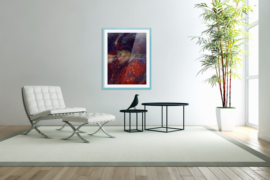 The Universe is Conscious  in Custom Picture Frame