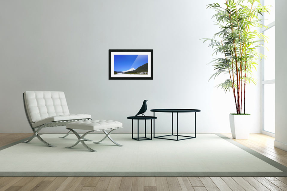Clear Day in the Mountains - Mount Hood  - Oregon in Custom Picture Frame