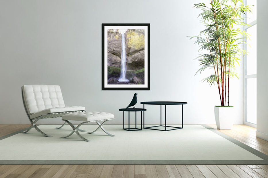 Spring at the Falls in The Gorge - Columbia River Oregon in Custom Picture Frame