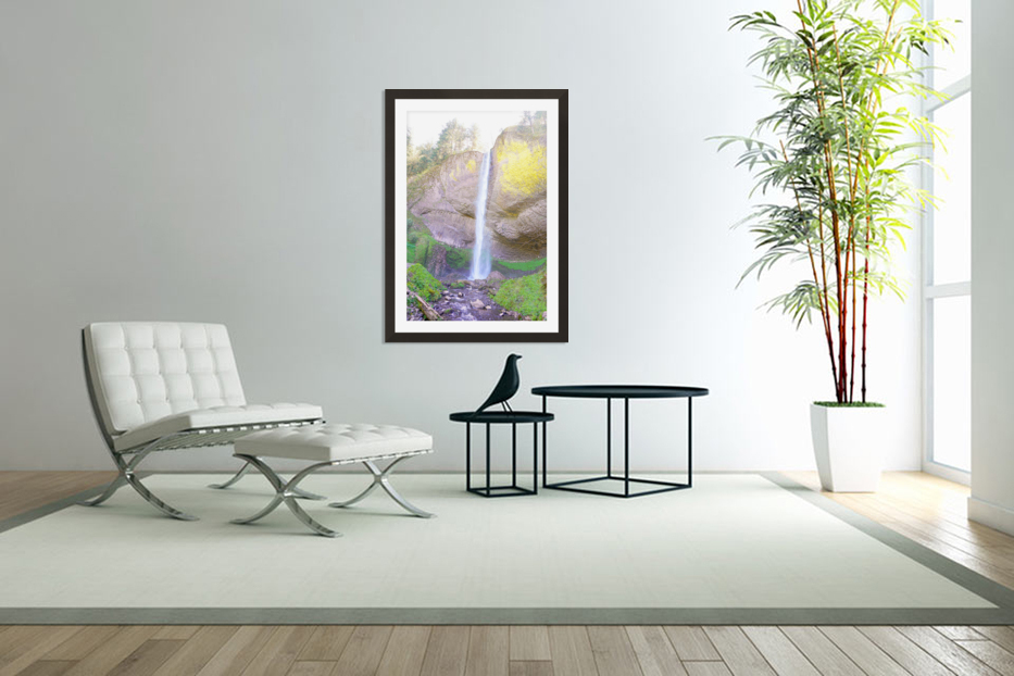 Majestic Falls in the Gorge   Columbia River Oregon in Custom Picture Frame