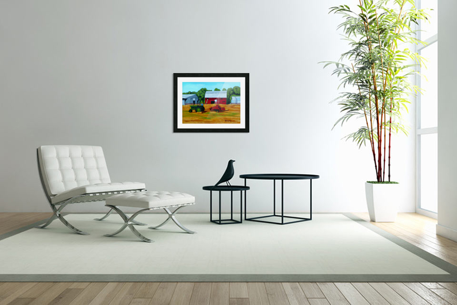 Bailing Hay in Custom Picture Frame