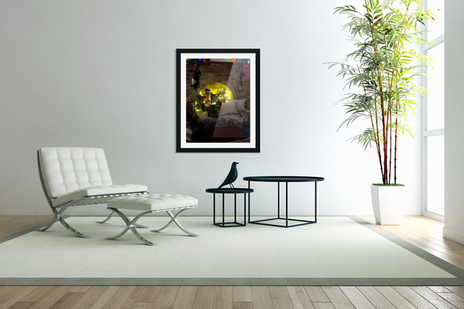 Christmas Cat in Custom Picture Frame