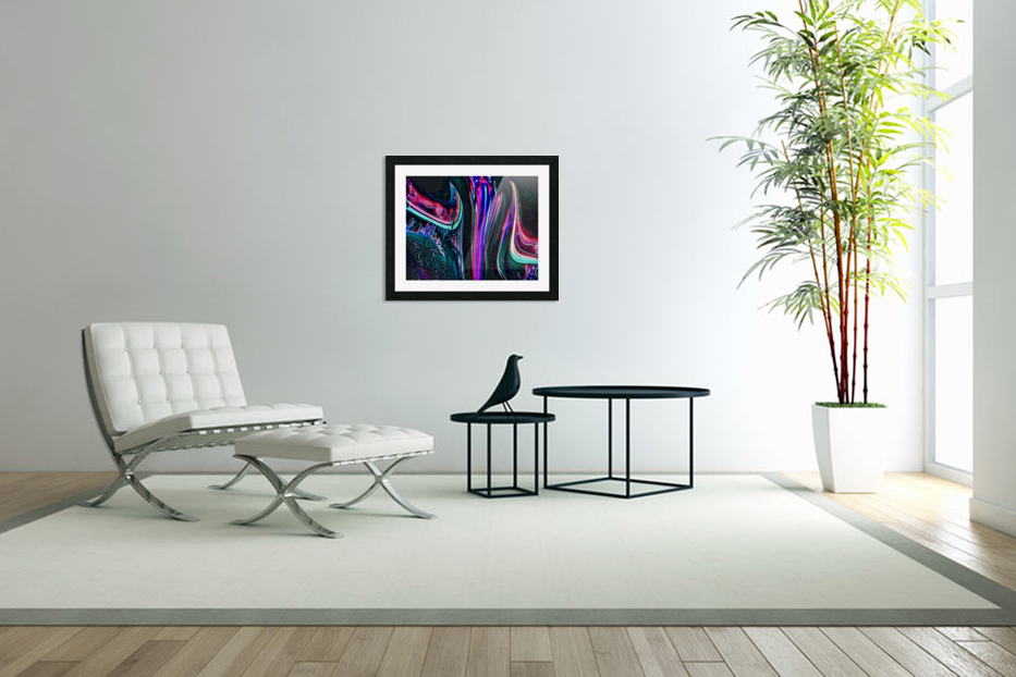 Colorful Distortions in Custom Picture Frame