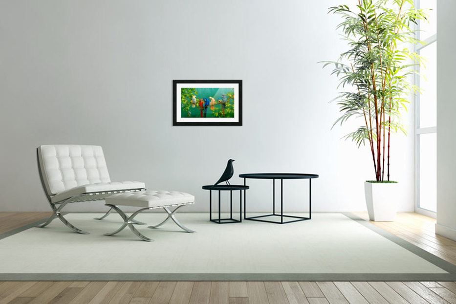Birds Of Paradise  in Custom Picture Frame