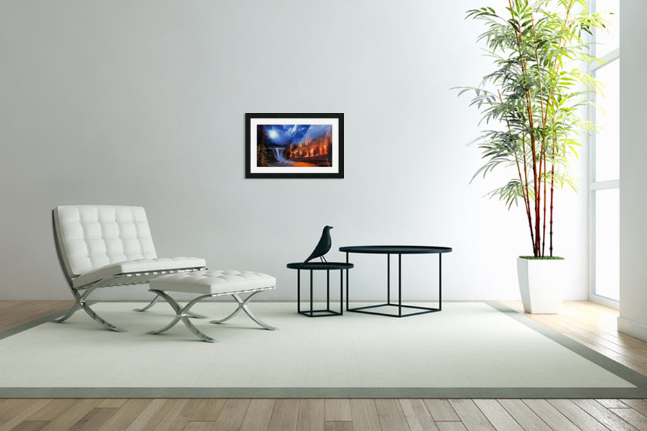 Forest Fire  in Custom Picture Frame