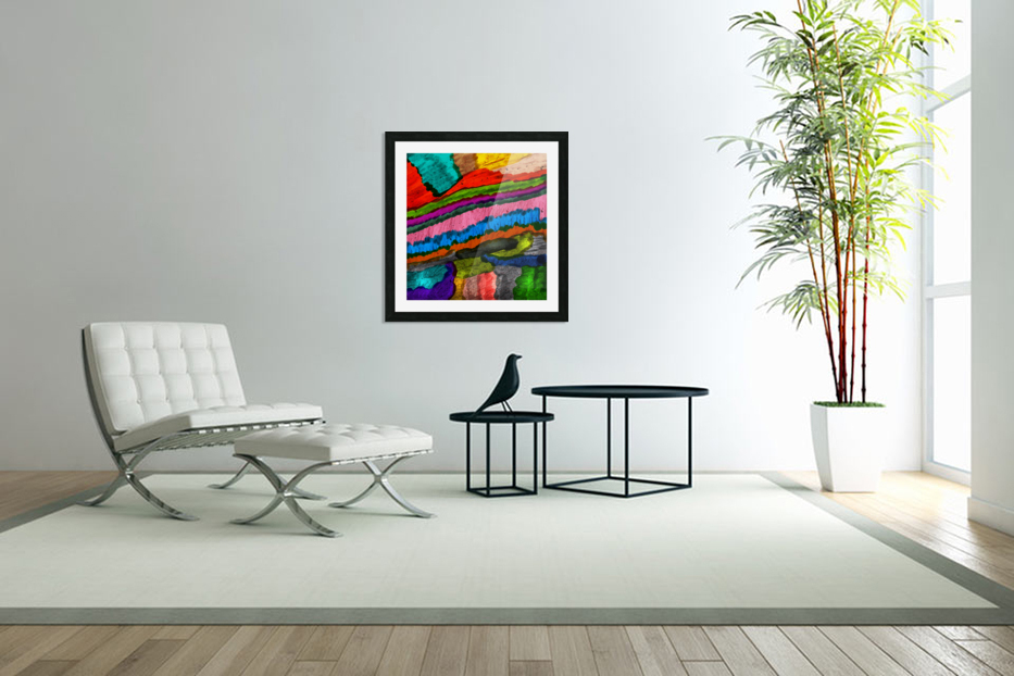 Abstract Art in Custom Picture Frame