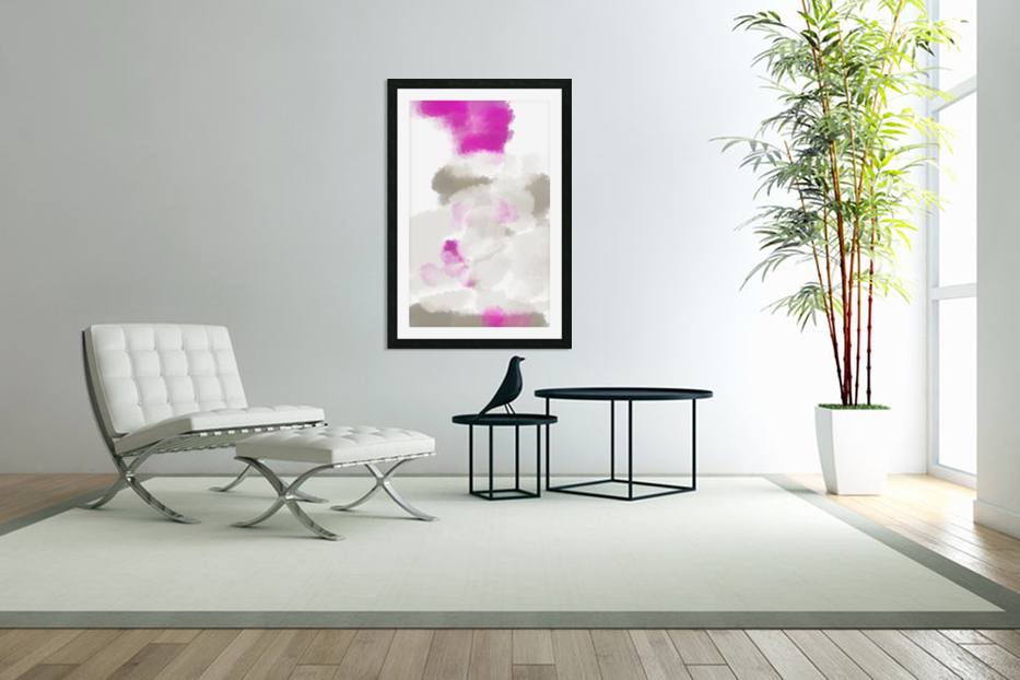 ABSTRACT PAINTING 03 in Custom Picture Frame