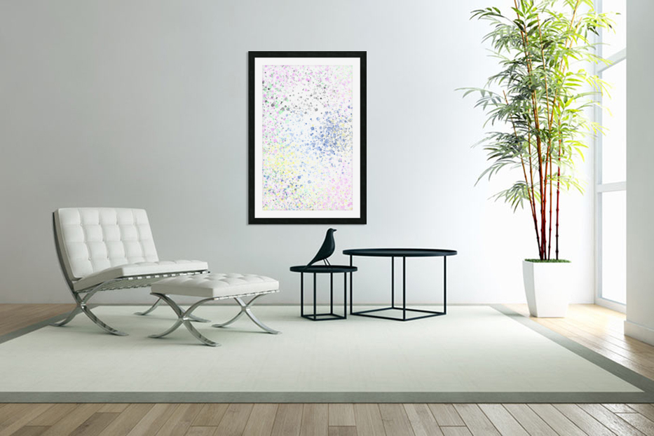 ABSTRACT PAINTING 40 in Custom Picture Frame