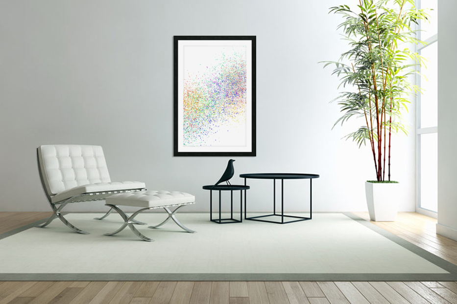 ABSTRACT PAINTING 47 in Custom Picture Frame