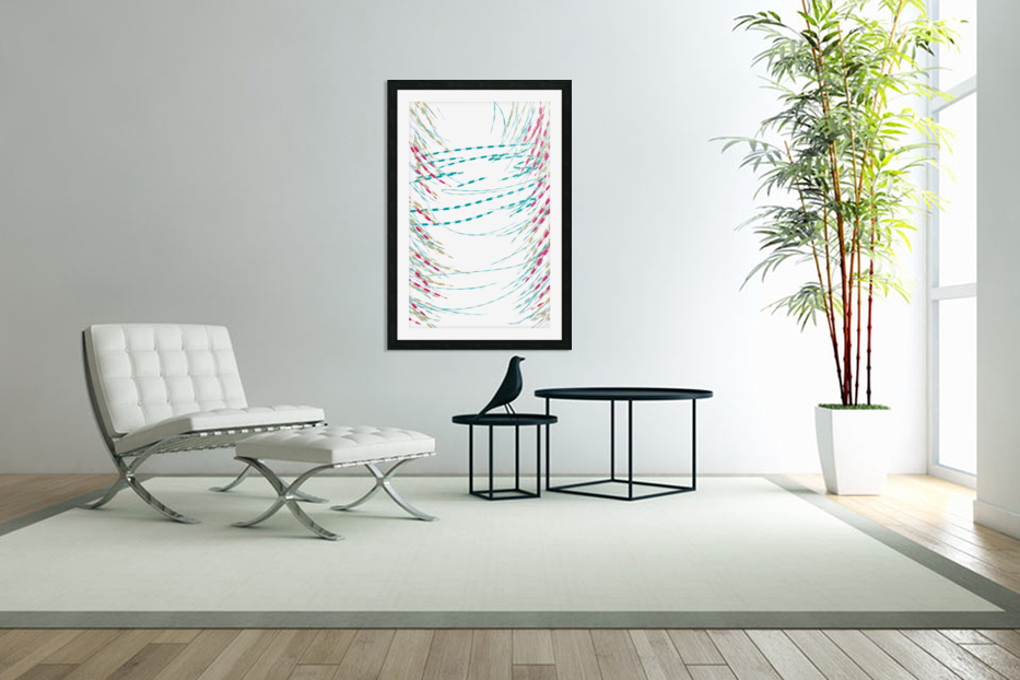 ABSTRACT PAINTING 75 in Custom Picture Frame