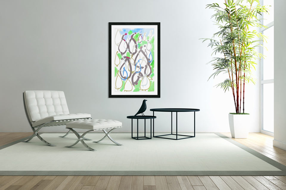 ABSTRACT PAINTING 88 in Custom Picture Frame