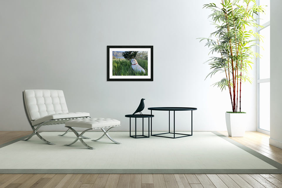 Blossom in Tall Grass in Custom Picture Frame