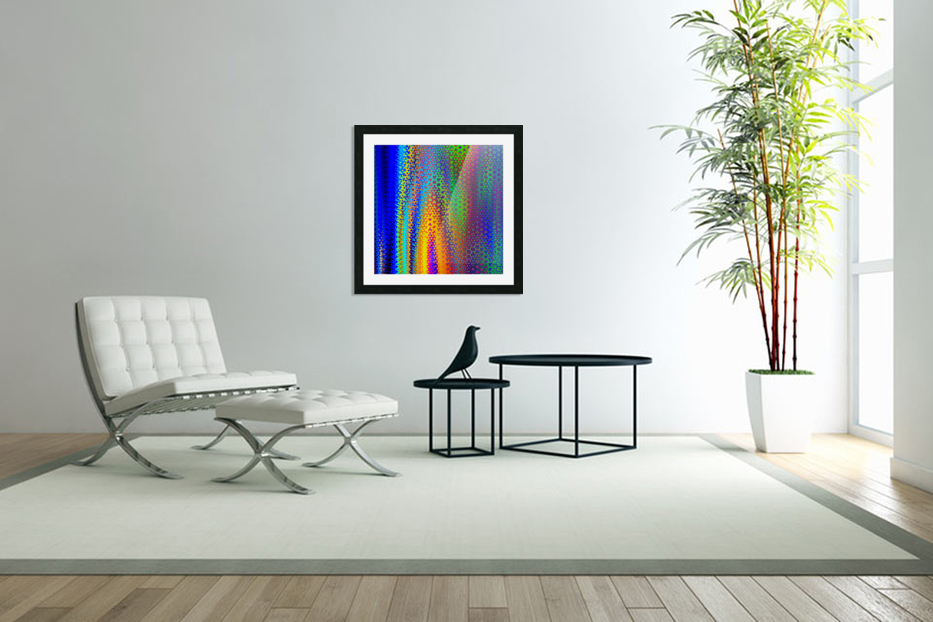 psychedelic wave in Custom Picture Frame