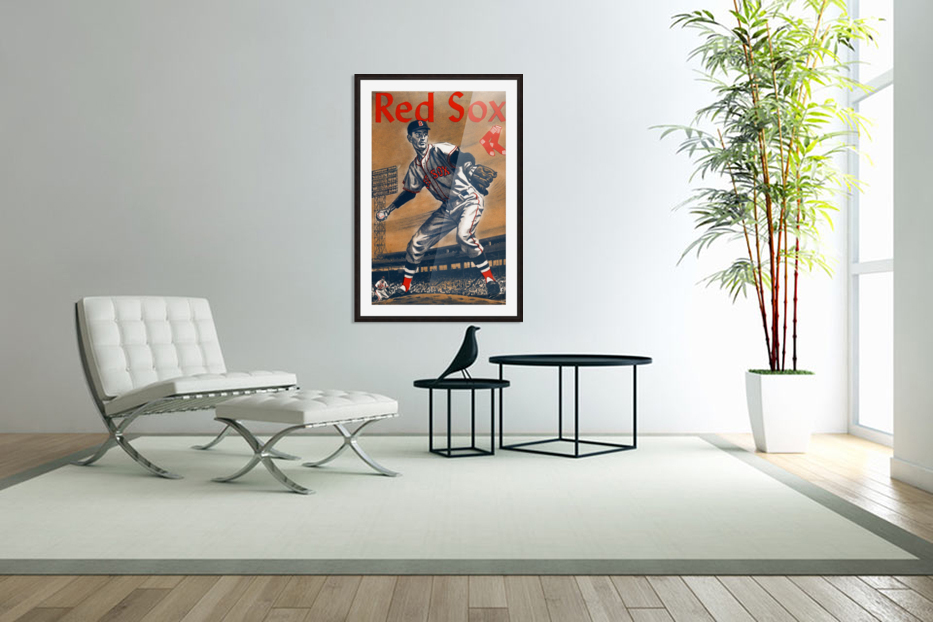 1960 Boston Red Sox Remix Art in Custom Picture Frame