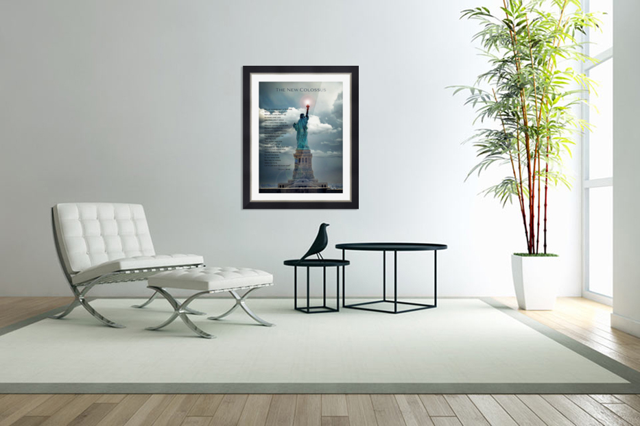 New Colossus in Custom Picture Frame
