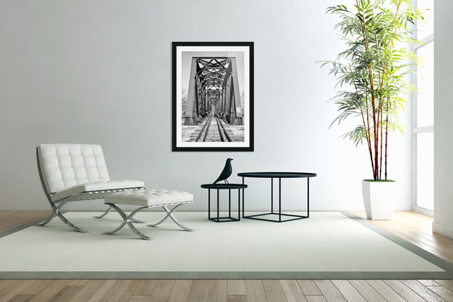 The Trestle in Custom Picture Frame