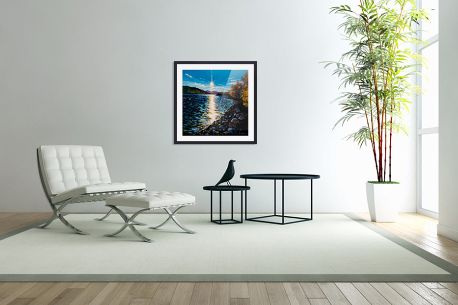 Moberly Lake in Custom Picture Frame