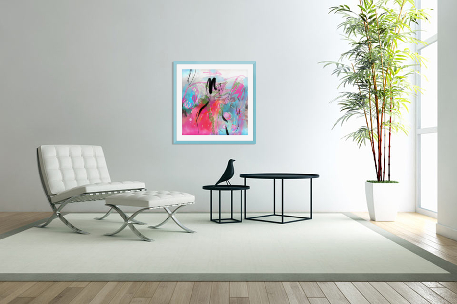 Summer Resort Abstract  in Custom Picture Frame