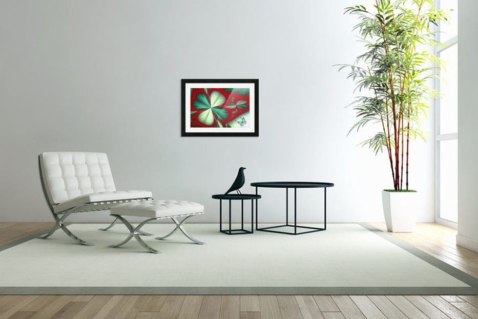 Shamrock and Butterfly in Custom Picture Frame