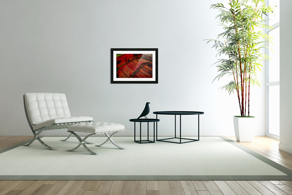 Rowboat Abstract in Custom Picture Frame
