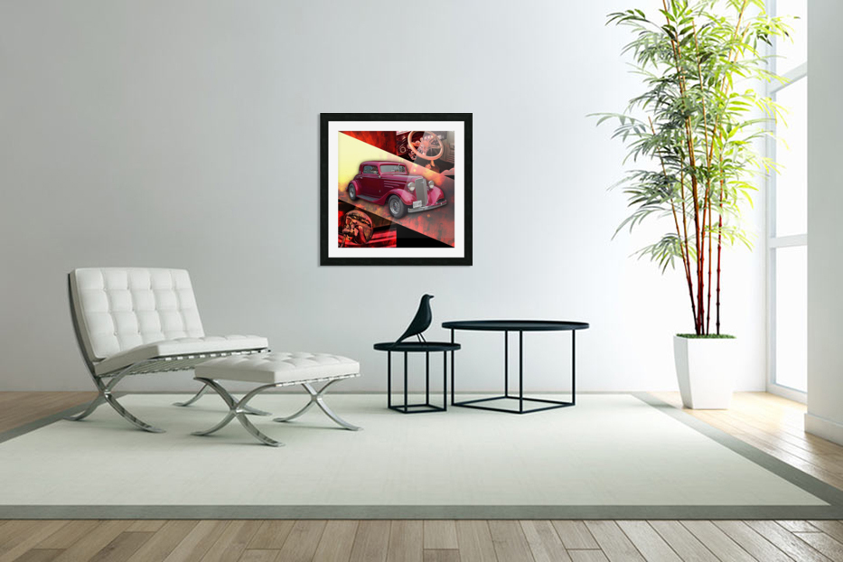 1935 Chevrolet 5-Window Coupe in Custom Picture Frame