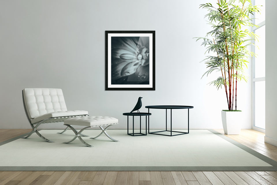 Flowerful Study In A Monochromatic Vibe in Custom Picture Frame