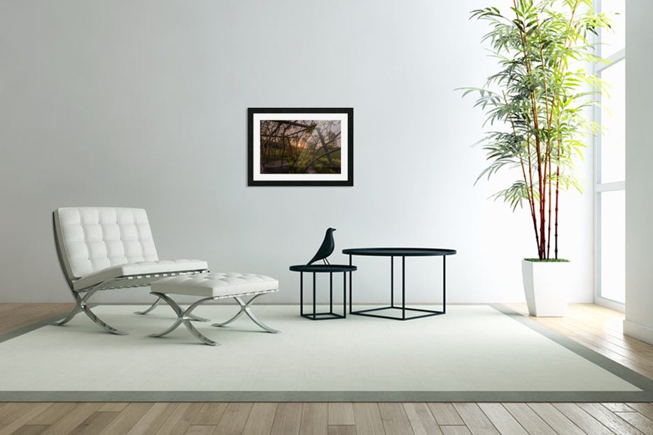 Un lieu pour mediter - A place to meditate in Custom Picture Frame