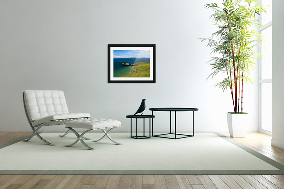 Northern Ireland Coast View in Custom Picture Frame