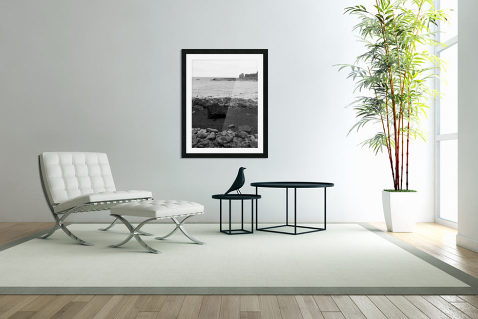 Sea and Rocks in Custom Picture Frame