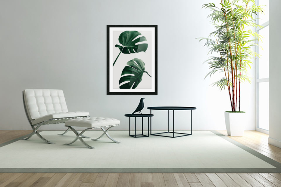 Monstera Natural 46 in Custom Picture Frame
