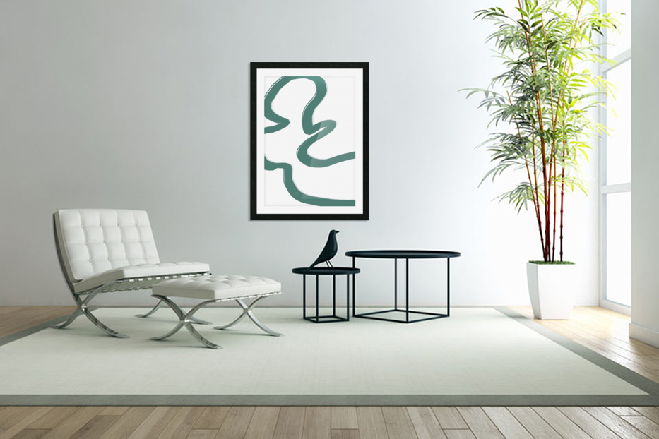 Road Green in Custom Picture Frame