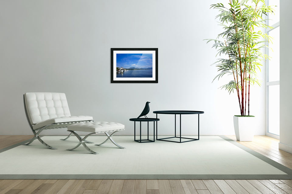 On the Shores of Lake Lucerne in Custom Picture Frame