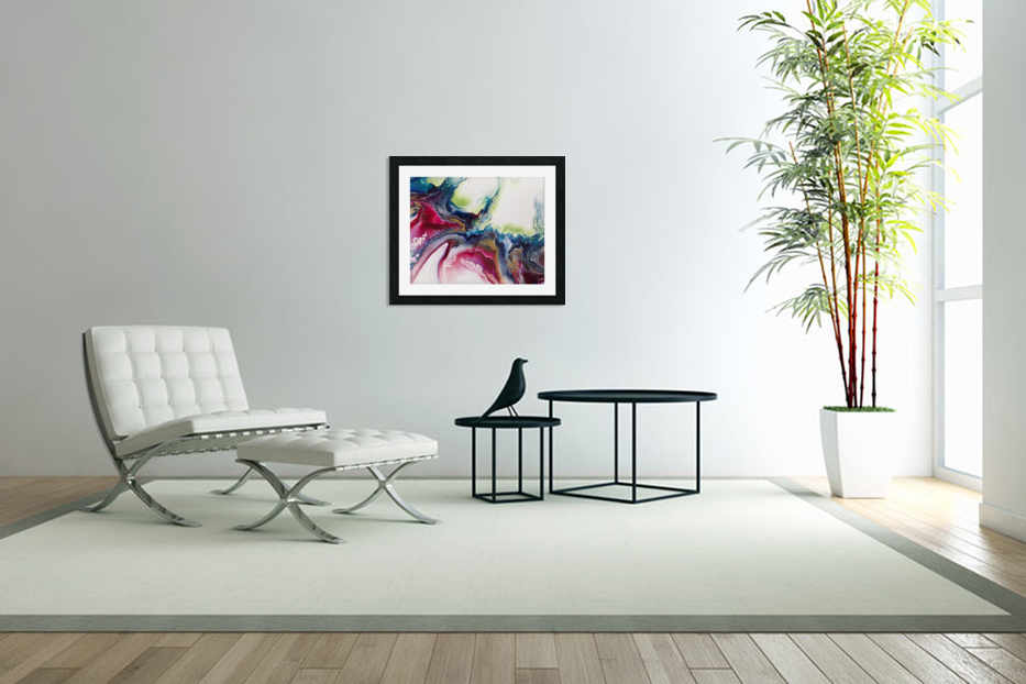 Dichotemy Abstract in Custom Picture Frame
