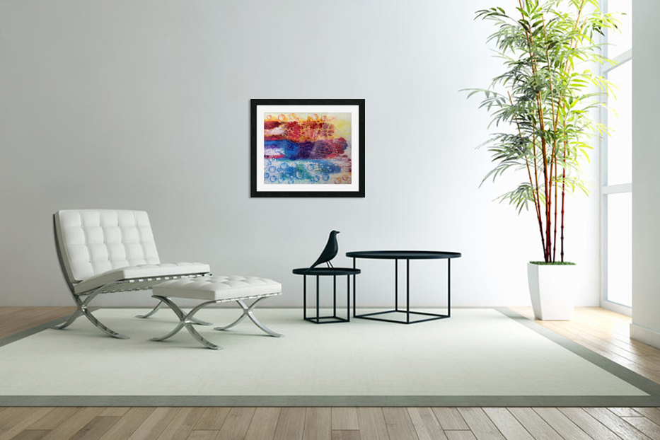 Rainbow Lizard Abstract in Custom Picture Frame