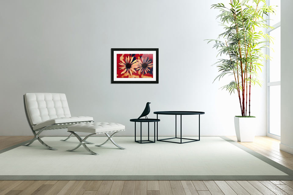 Two Coneflowers in Custom Picture Frame