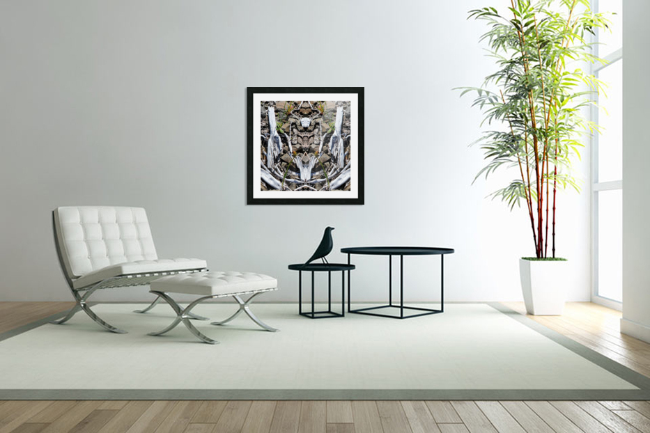 Sticks and Stones in Custom Picture Frame