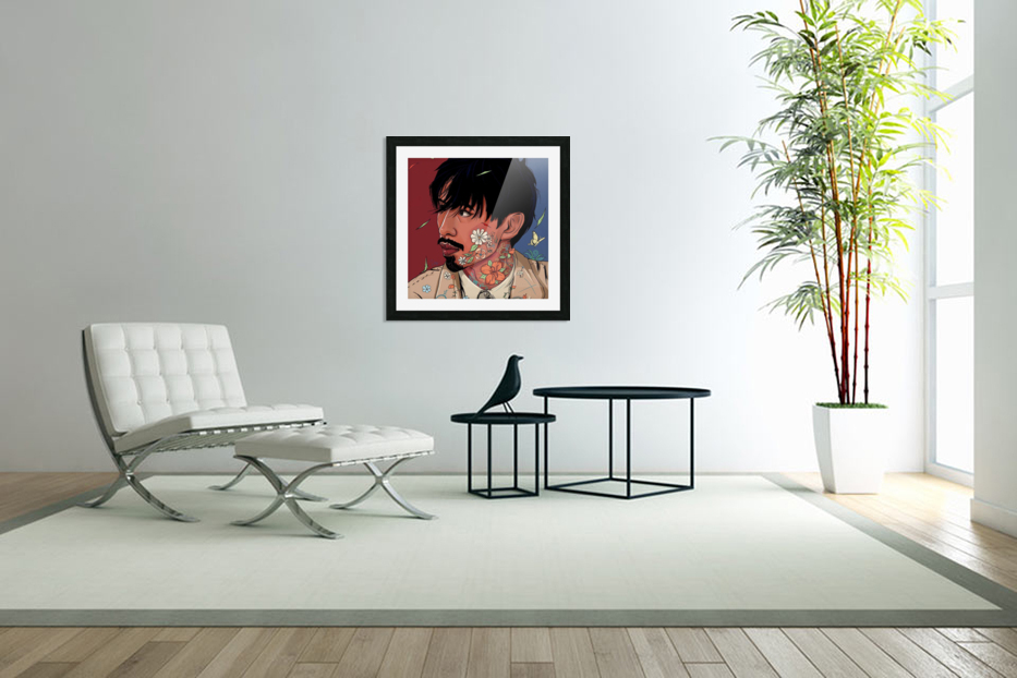 Portrait Painting In The MV Hide and Seek in Custom Picture Frame
