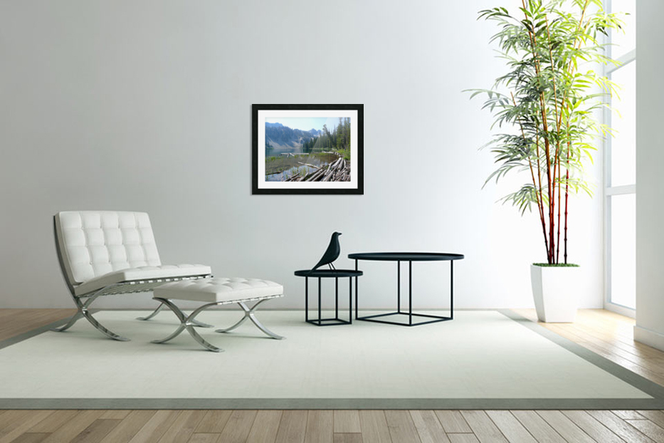 Sawtooth Lake in Custom Picture Frame