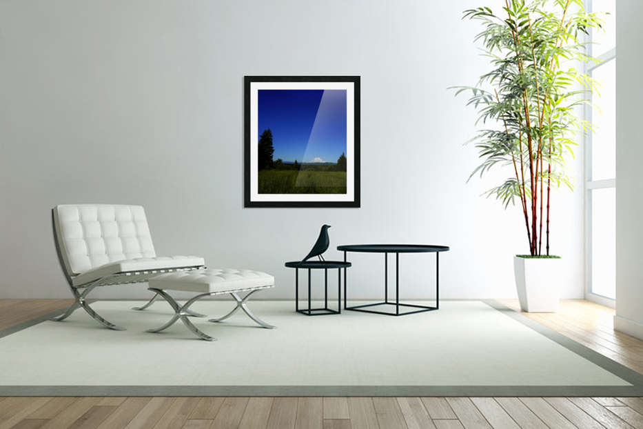 Mount Rainier at Sunset Pacific Northwest Washington State in Custom Picture Frame