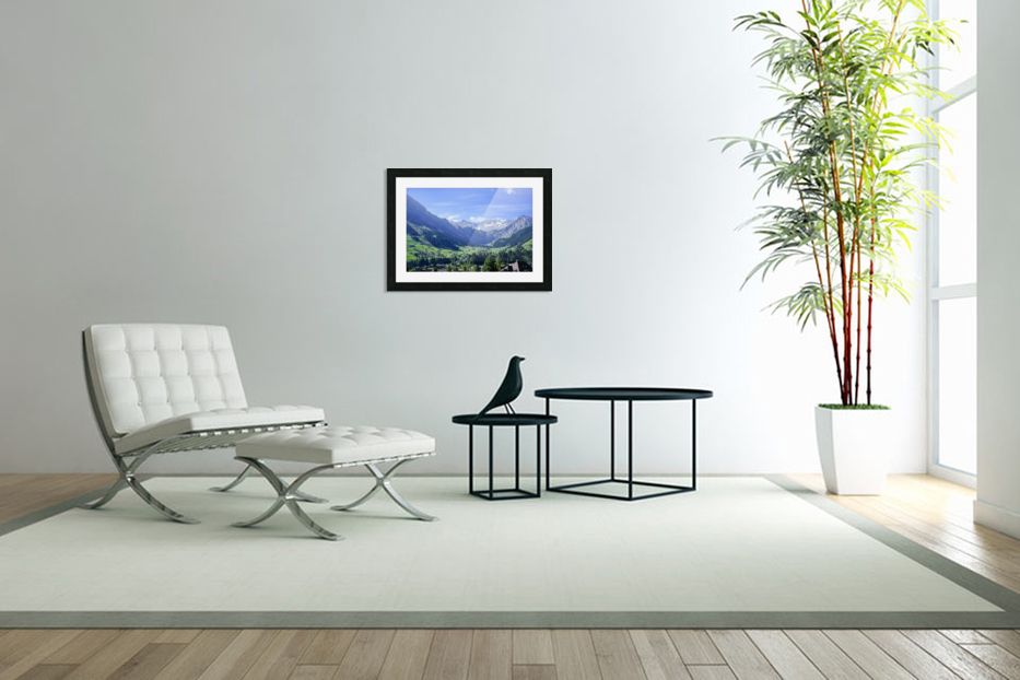 Blue Skies over the Alps in Adelboden Switzerland in Custom Picture Frame