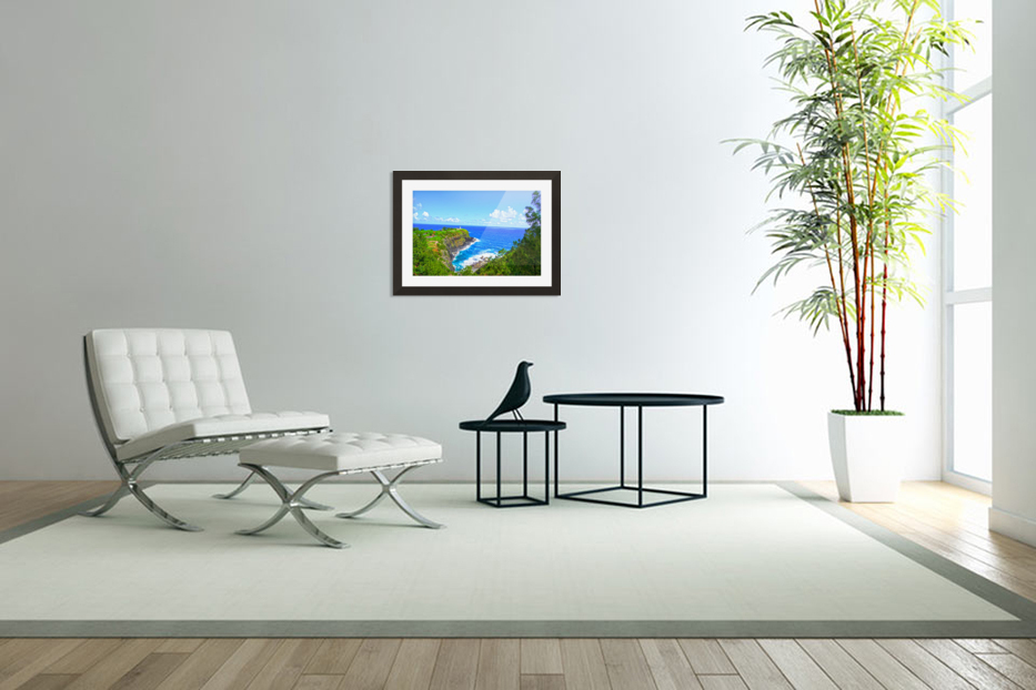 Kilauea Lighthouse in Spring on the Island of Kauai in Custom Picture Frame
