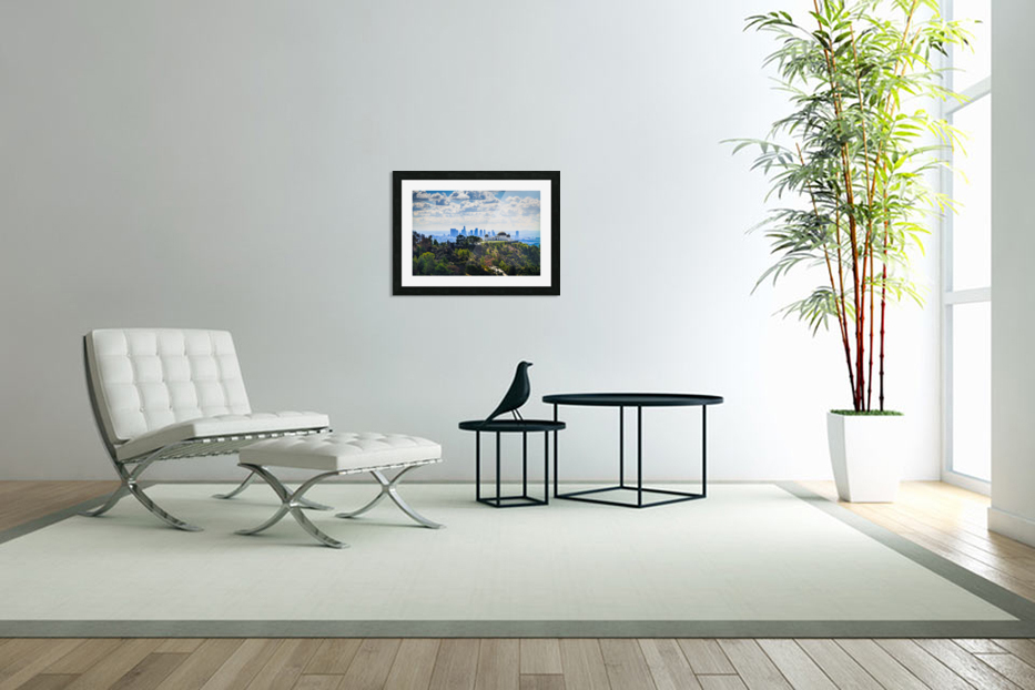 Overlooking Griffith Observatory in Custom Picture Frame